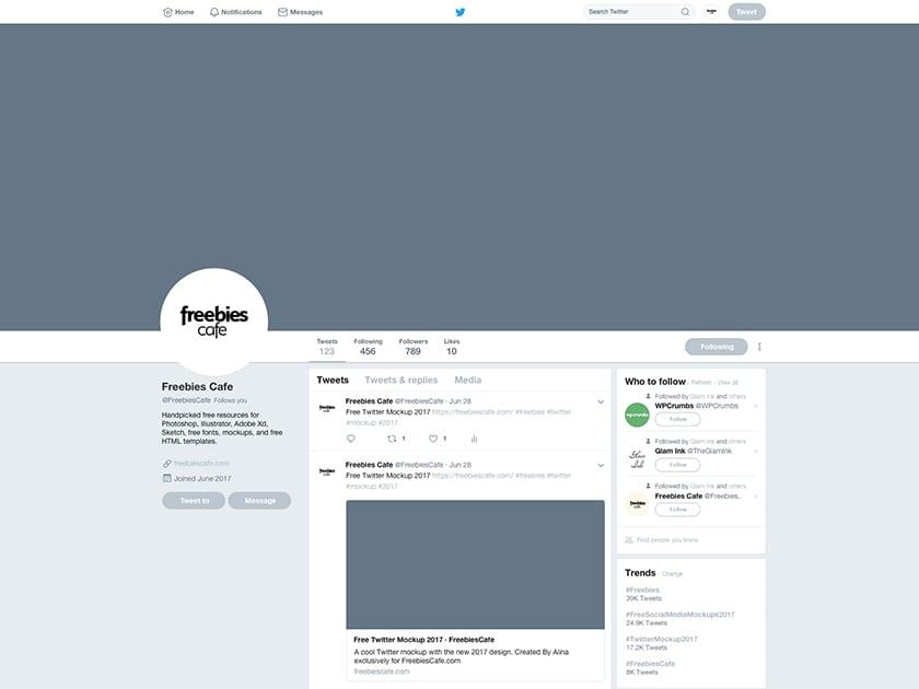 Free Twitter 2017 Mockup (2017 New Design) - Fluxes Freebies