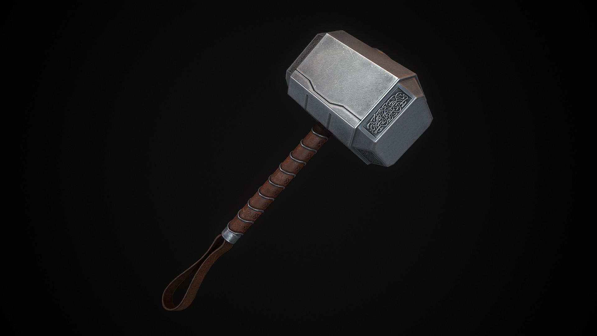 1080p Hd Wallpapers 3d Mj 246 Lnir Thor S Hammer Models Gt Melee Weapons Gamebanana