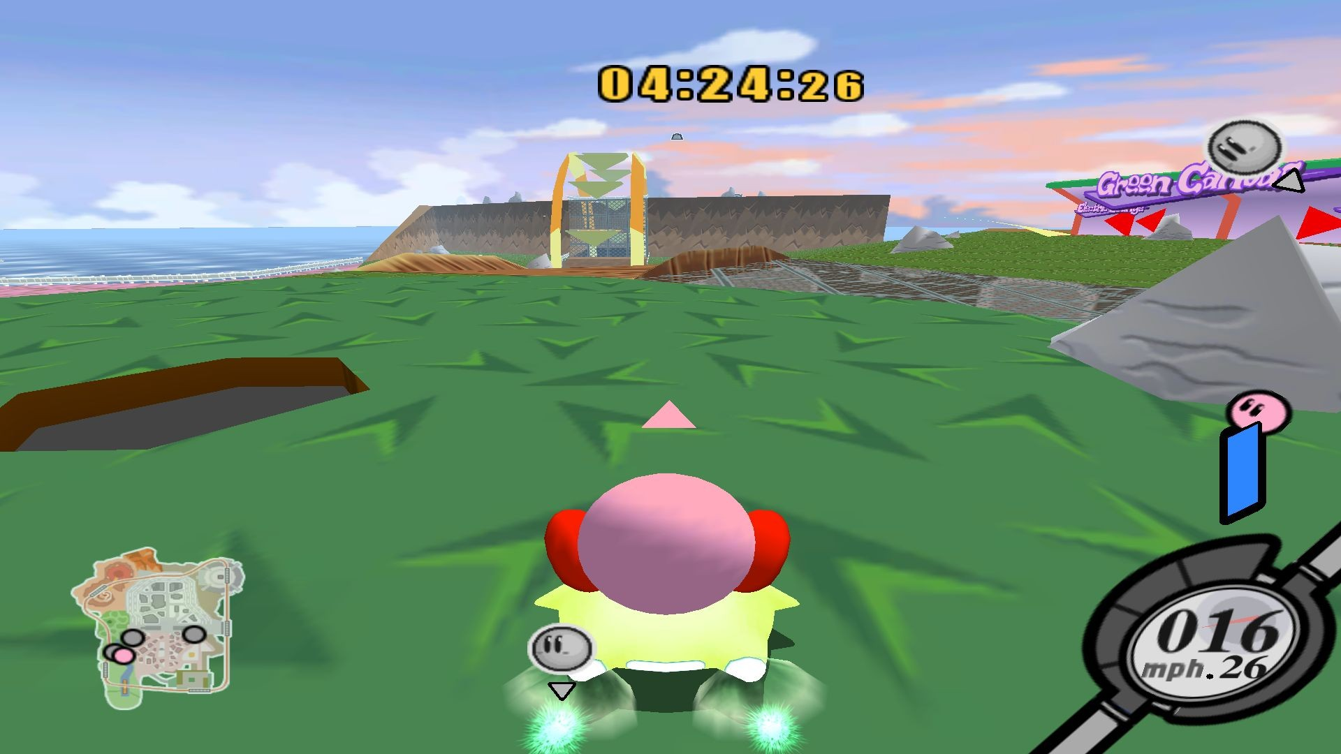 Free 3d Dolphin Wallpaper Kirby Air Ride City Trial Map Gamebanana Projects