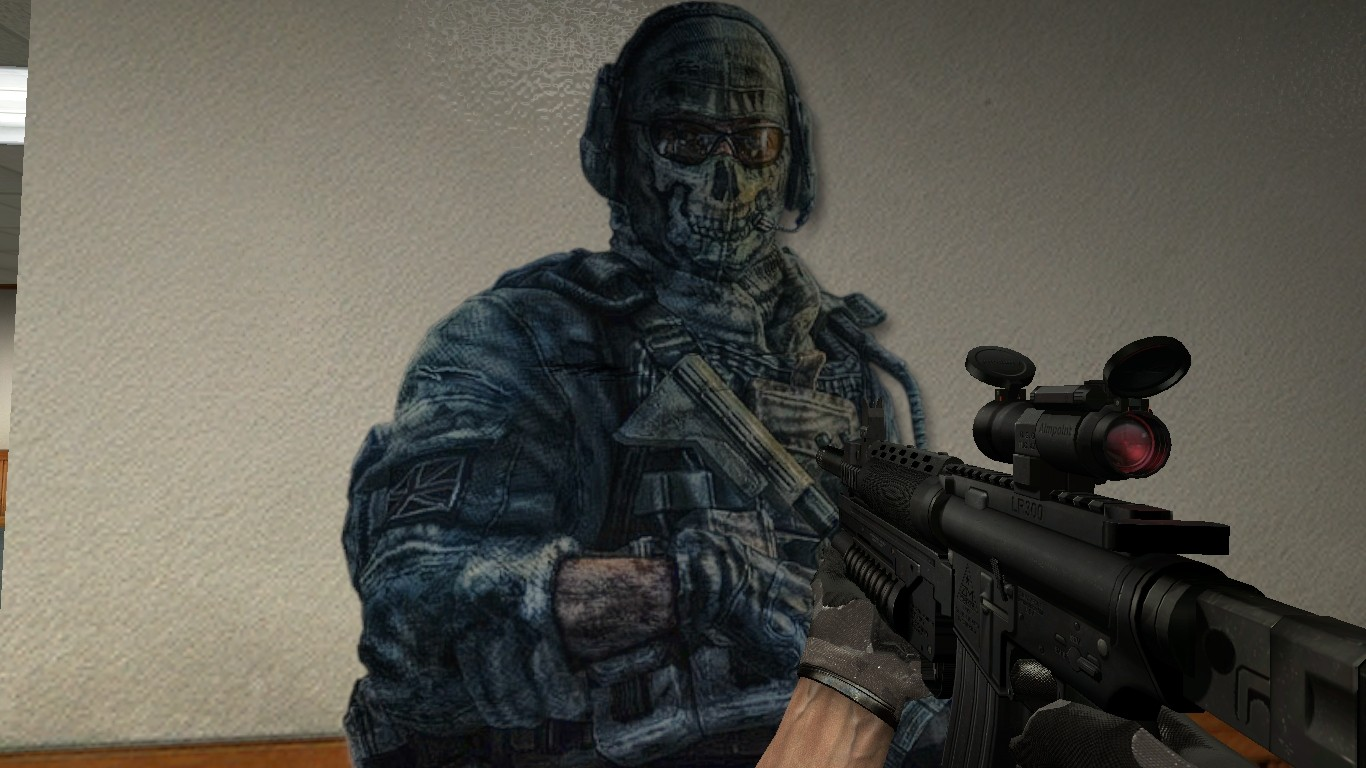 Call Of Duty Wallpaper Hd Simon Ghost Riley Spray Counter Strike Source Sprays