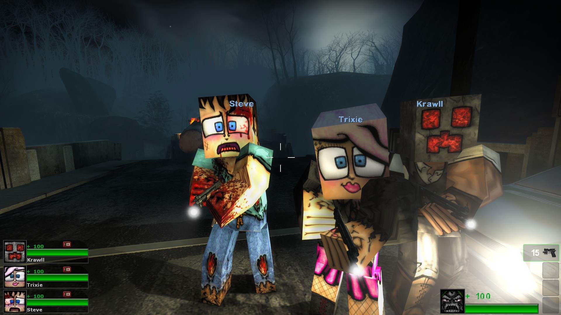 Zombies Animated Wallpaper Hd Vondoomcraft For L4d2 Gamebanana Works In Progress