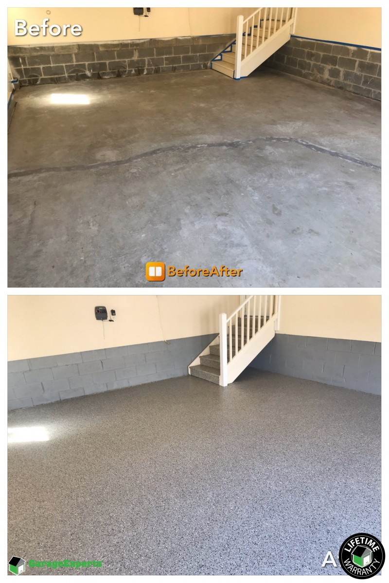 Garage Floor Epoxy Steps Recent Work Garageexperts Of Virginia Peninsula
