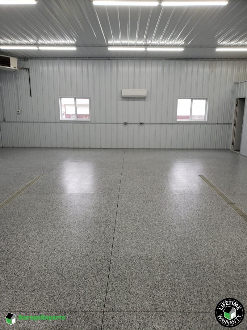 Industrial Woodworking Shop Epoxy Flooring In Mapleton Mn Garage Experts Of Southern Minnesota
