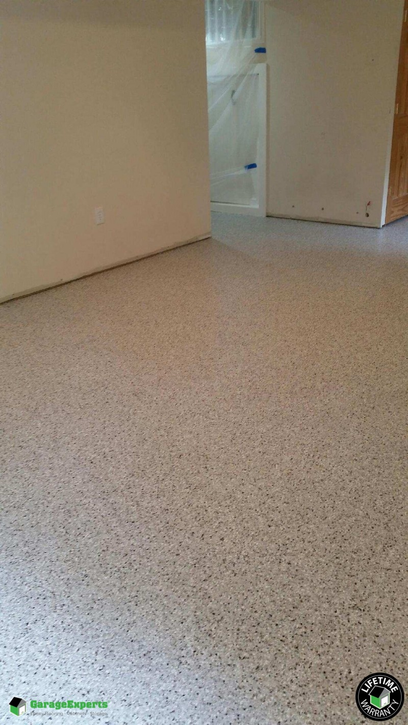 Residential Basement Epoxy Flooring In Dunkirk Maryland Garage Experts Of Metropolitan Maryland