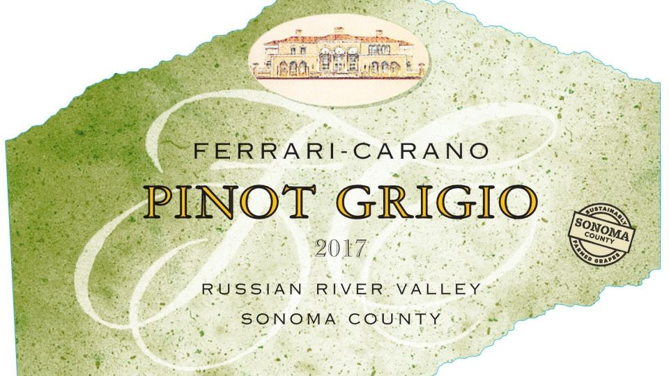 New Wine Label for Sonoma Sustainability - Growing Produce - wine label