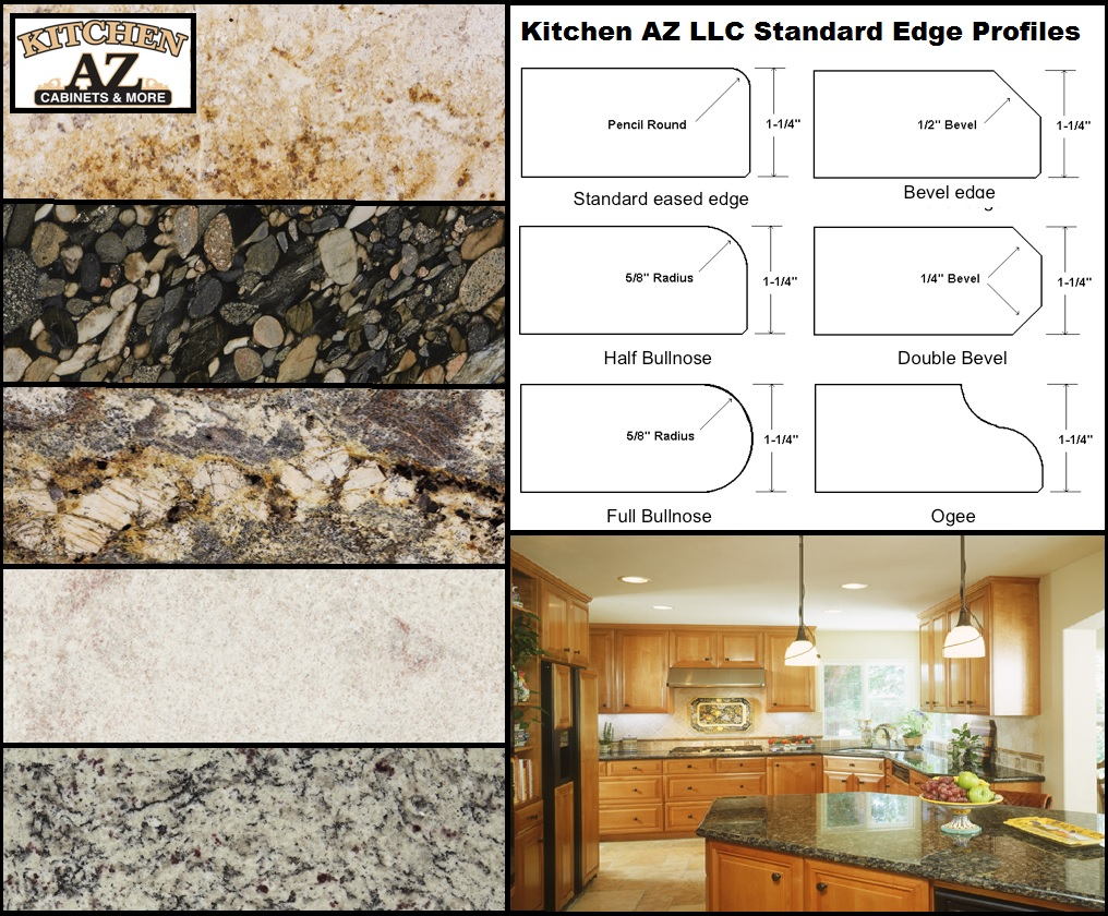 Custom Granite Kitchen Countertops And Edge Profiles In Phoenix