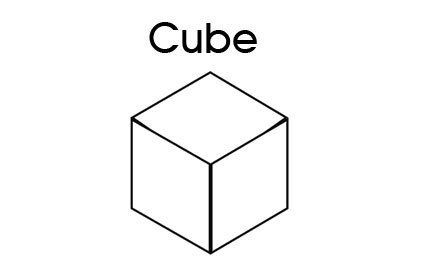 3D Shapes - Printable - Cube