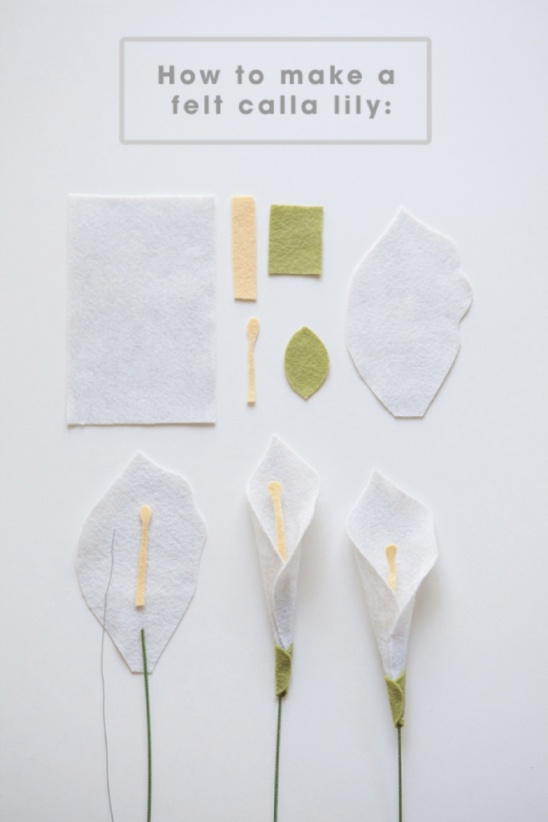 Calla Lily Flower Template Diy Felt Calla Lily By Jen Carreiro | Project | Papercraft