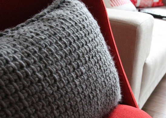 Tunisian Crochet Pillow By Tracing Threads Project