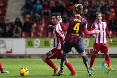 Game Girona – FC Barcelona B live. Season 2013/2014 | Liga de Fútbol Profesional