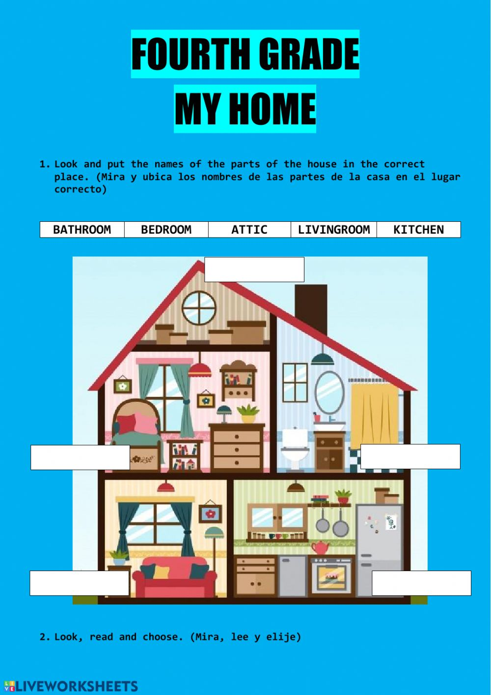 My Home Interactive Activity