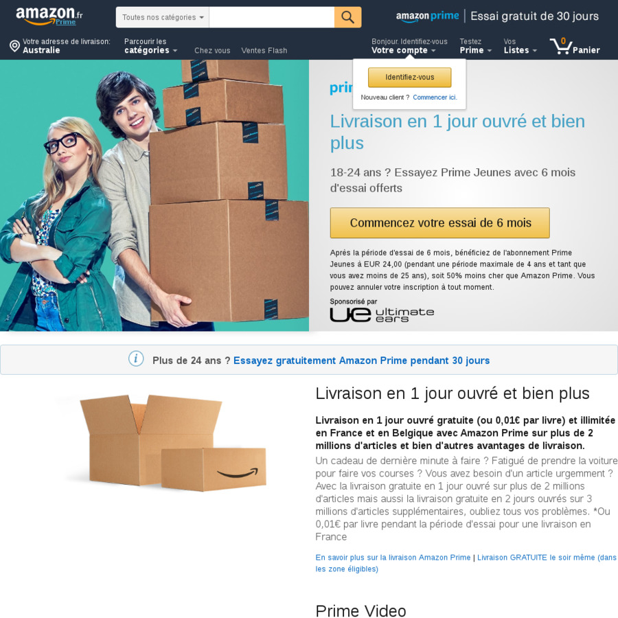 Amazon Usa Livraison France 6 Months Free Amazon Prime Video Amazon France Ozbargain