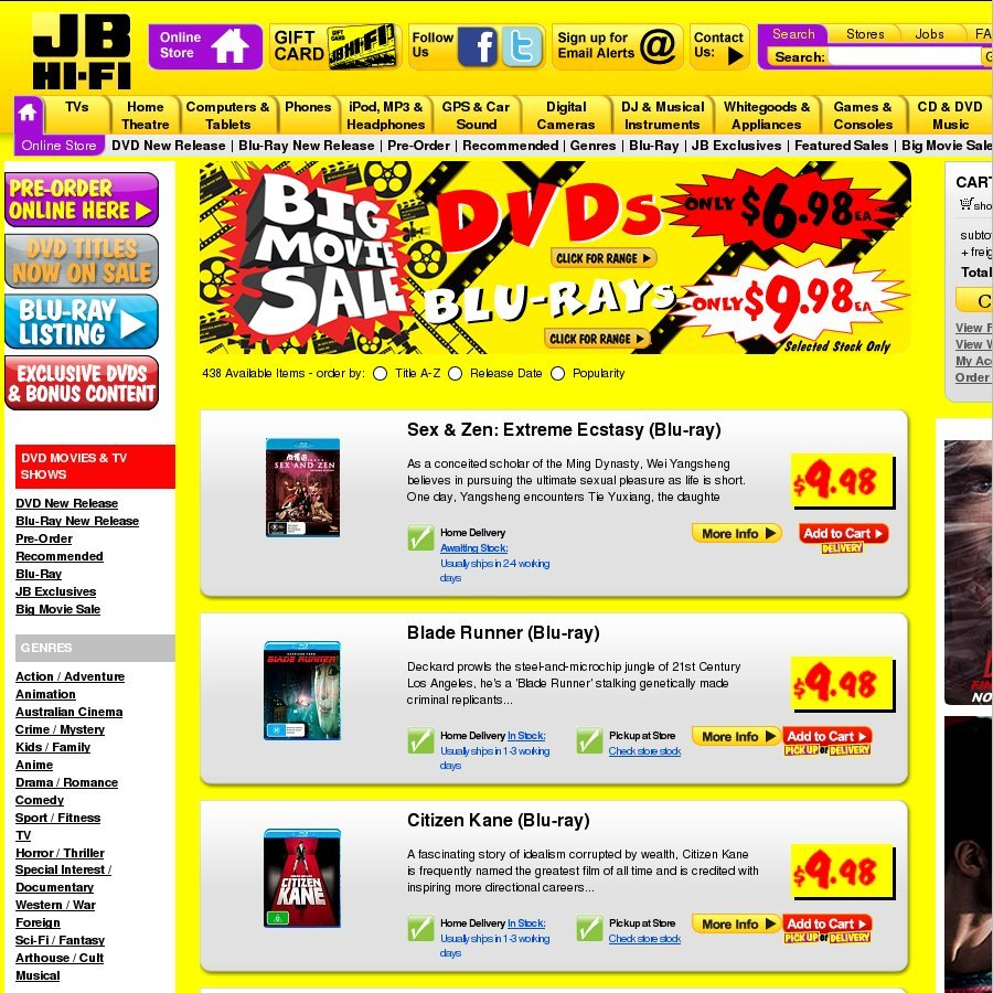 Jb Hi Fi Lighting Blu Rays 9 98 Jb Hi Fi And Dvds 6 98 Selected Stock Only