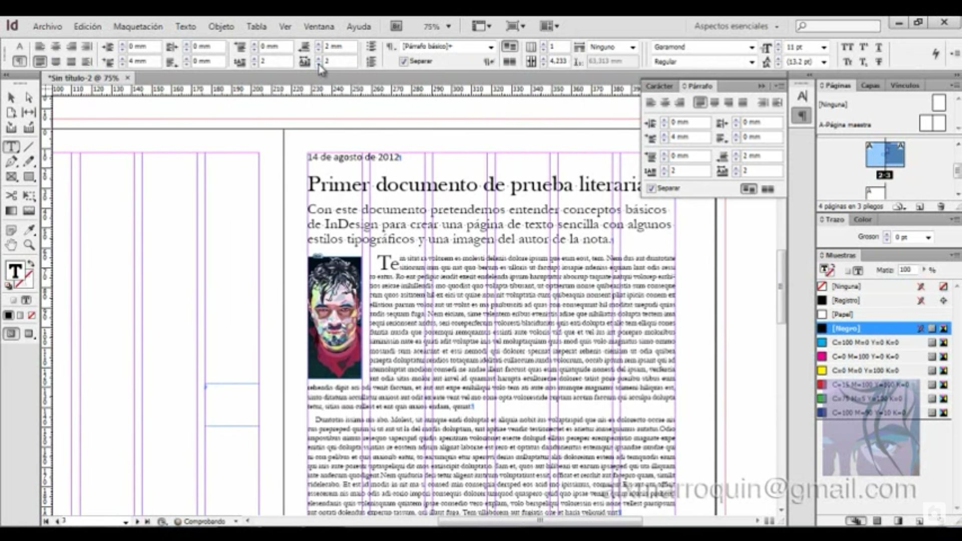 Libro Indesign Tutorial Elabora Un Documento Editorial Básico Con
