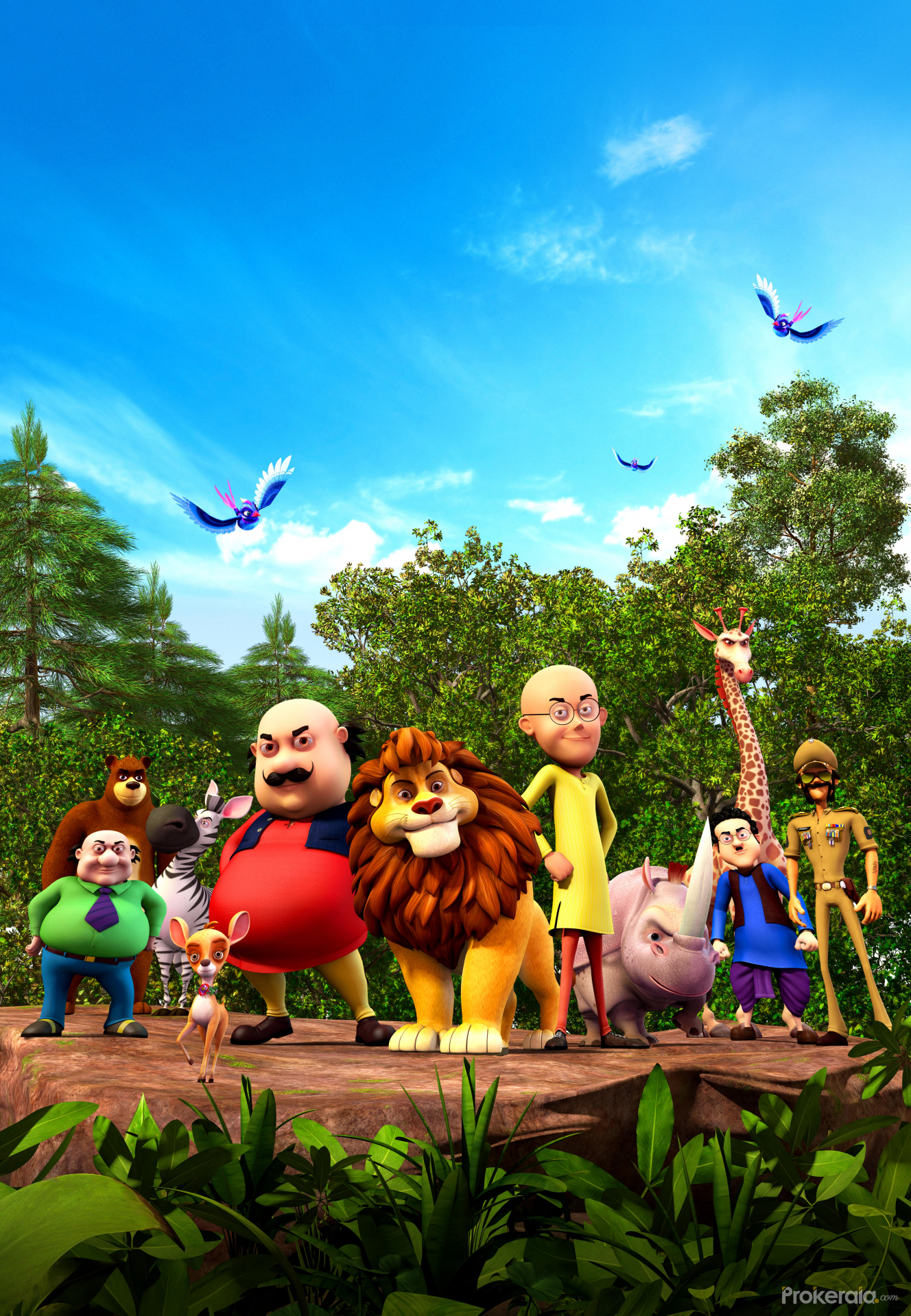 Ganesh 3d Name Wallpaper Motu Patlu King Of Kings Movie Wallpaper Still