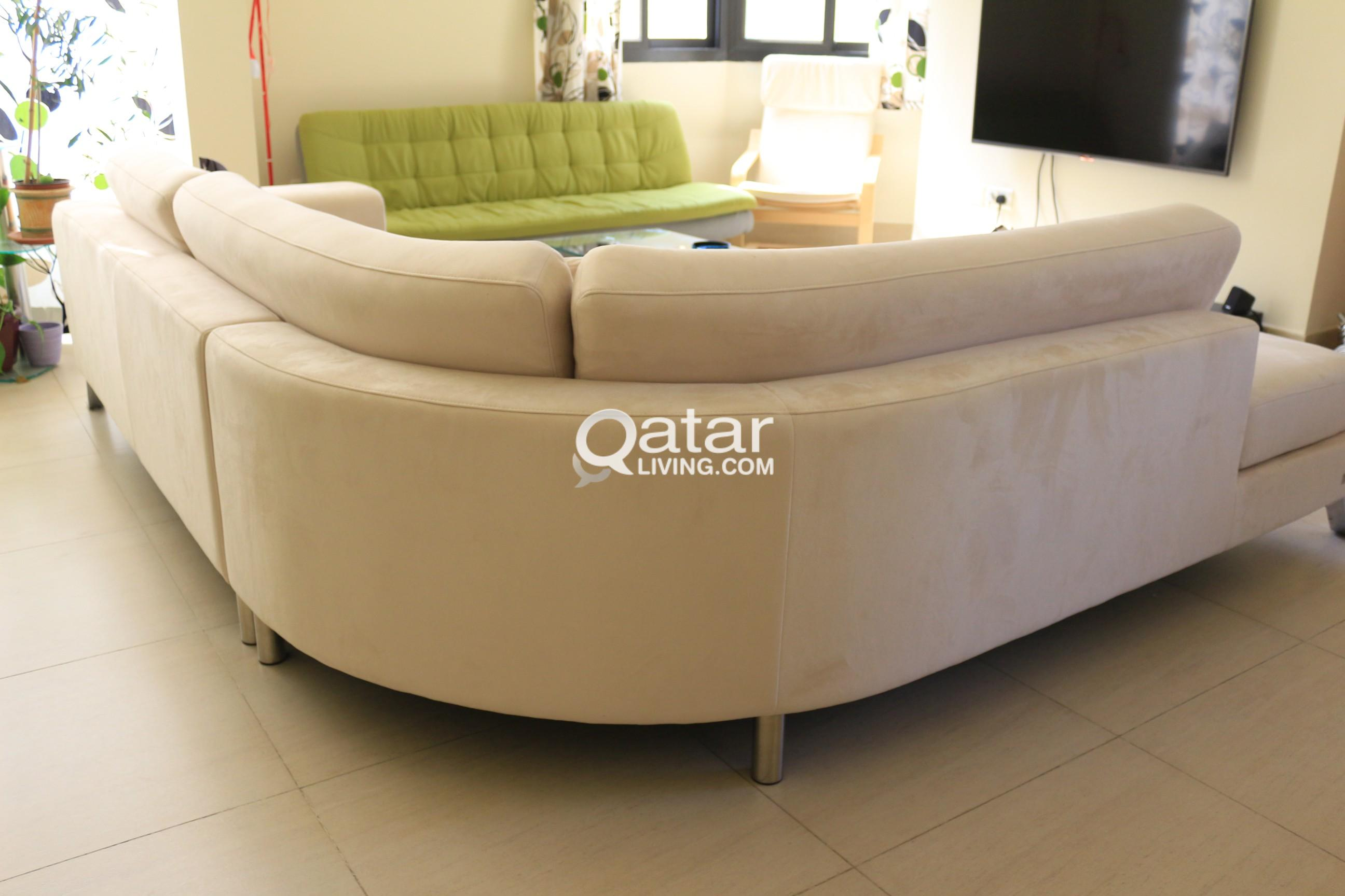 Sofa Set Price In Qatar The One L Shape Beige Sofa Qatar Living