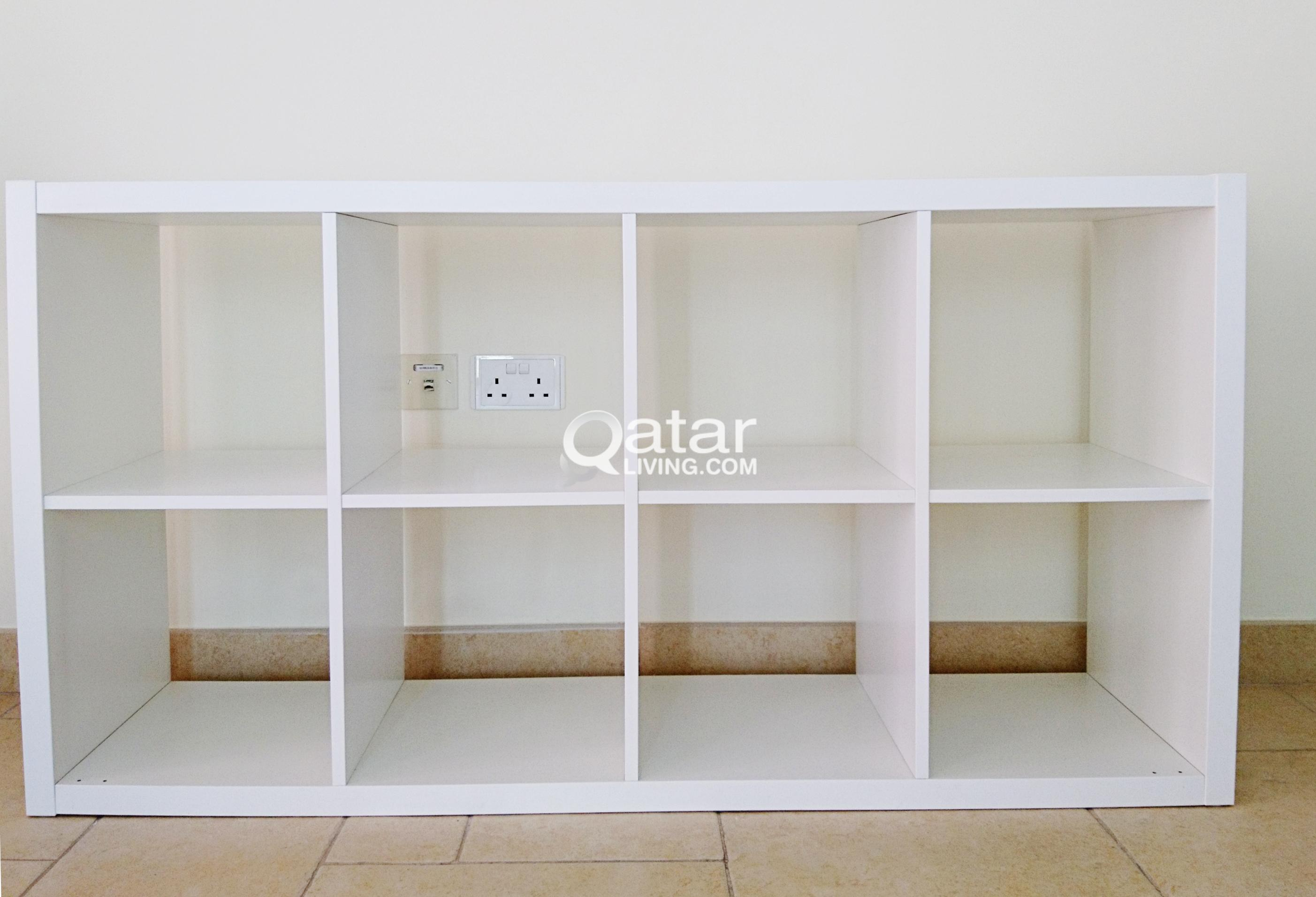 Ikea Kallax Ikea Kallax White Storage 8 Shelving Unit Book Case Qatar Living