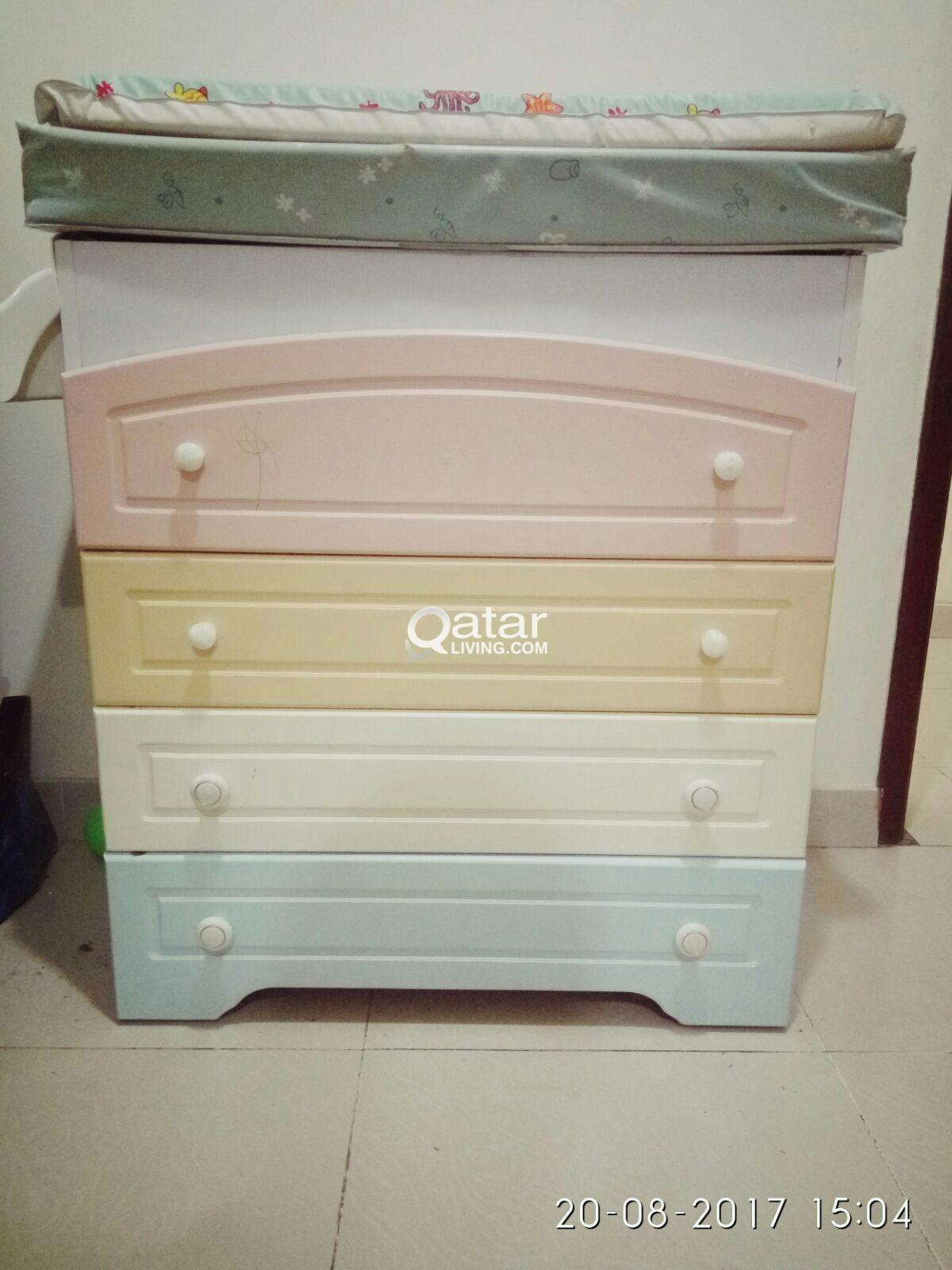 Changing Table Chest Of Drawers Baby Changing Table With Chest Drawers Qatar Living
