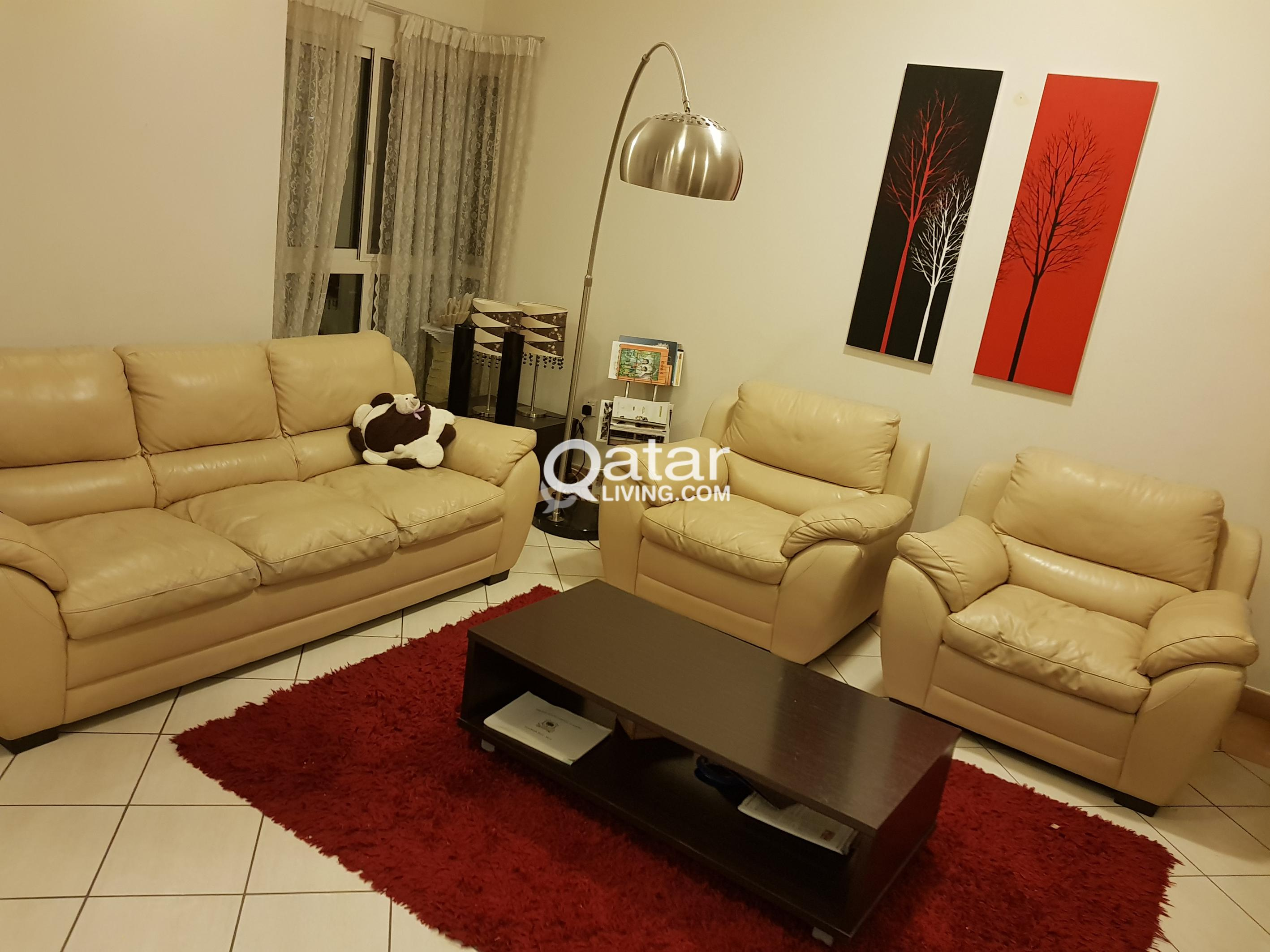 Sofa Set Price In Qatar Home Center Leather Sofa Set 3 431 431 And Coffee Table