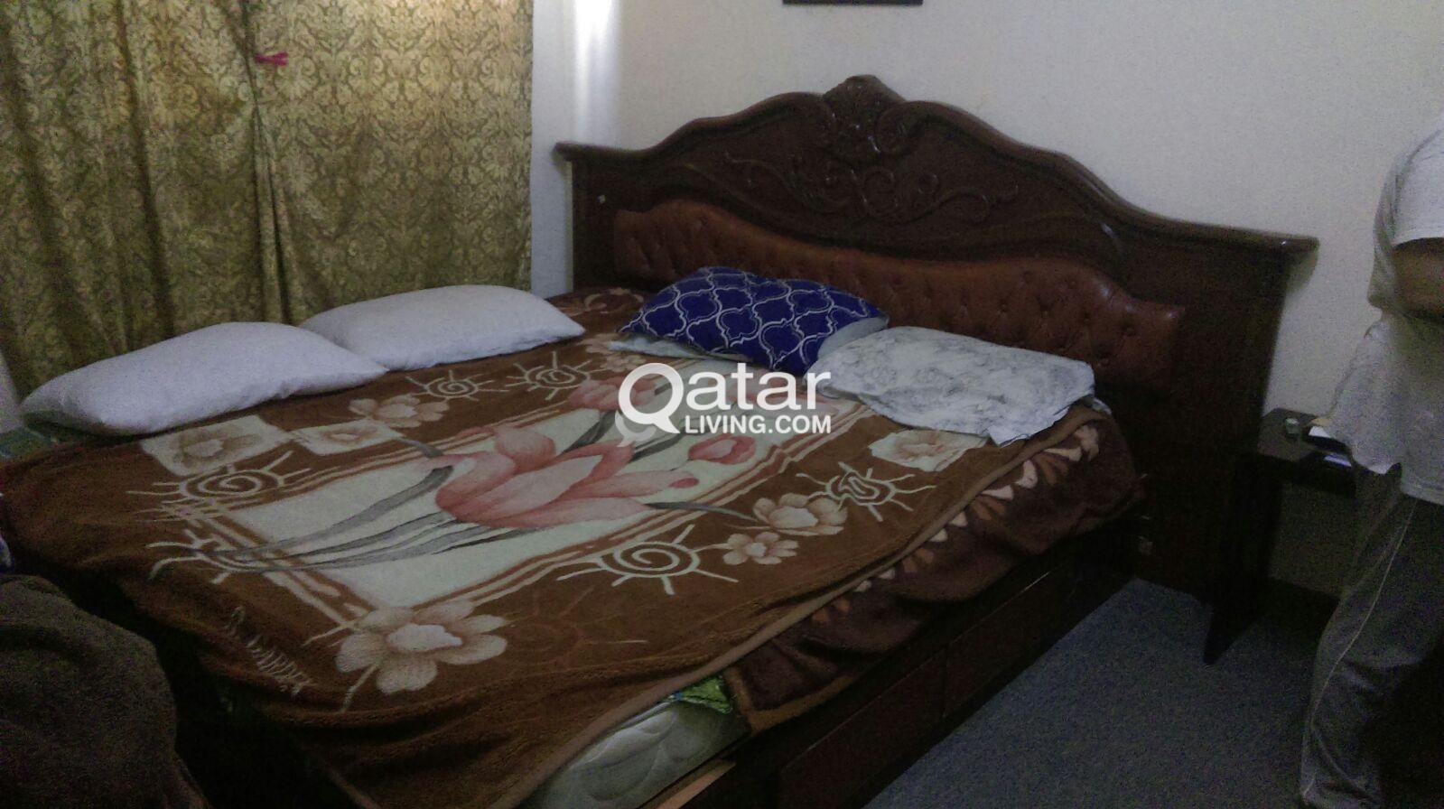 Dressing A Bed Urgent Sale Bed With Mattress Dressing Table Qatar Living