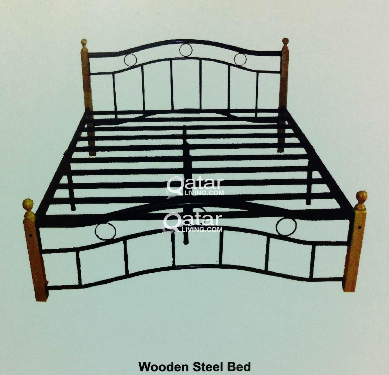 Bed 120 X 190 Wooden Steel Bed 120x 190 With Mattress Qatar Living