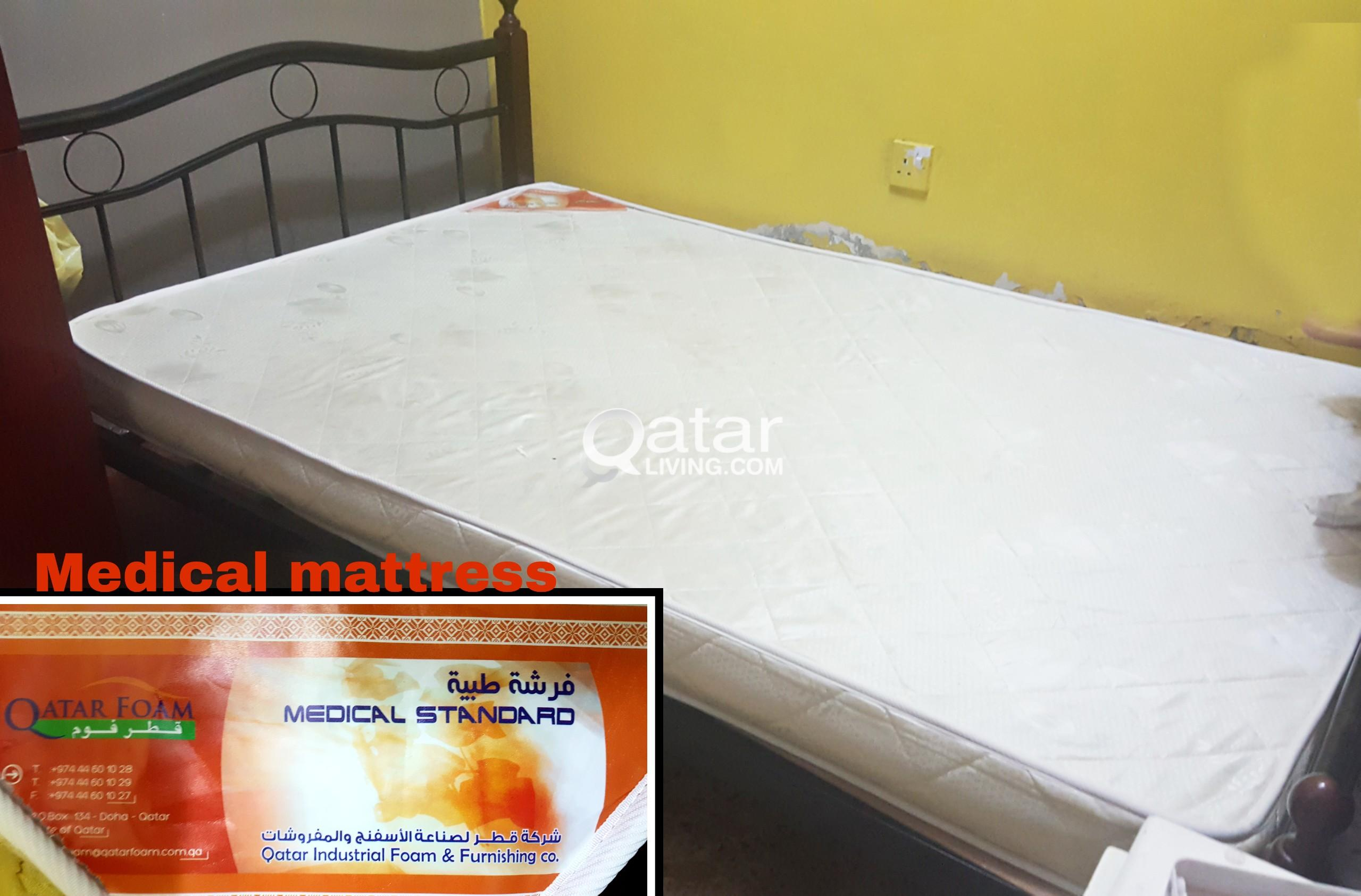 Bed 120 X 190 Steel Double Bed With Medical Mattress 120 X 190 Qatar Living
