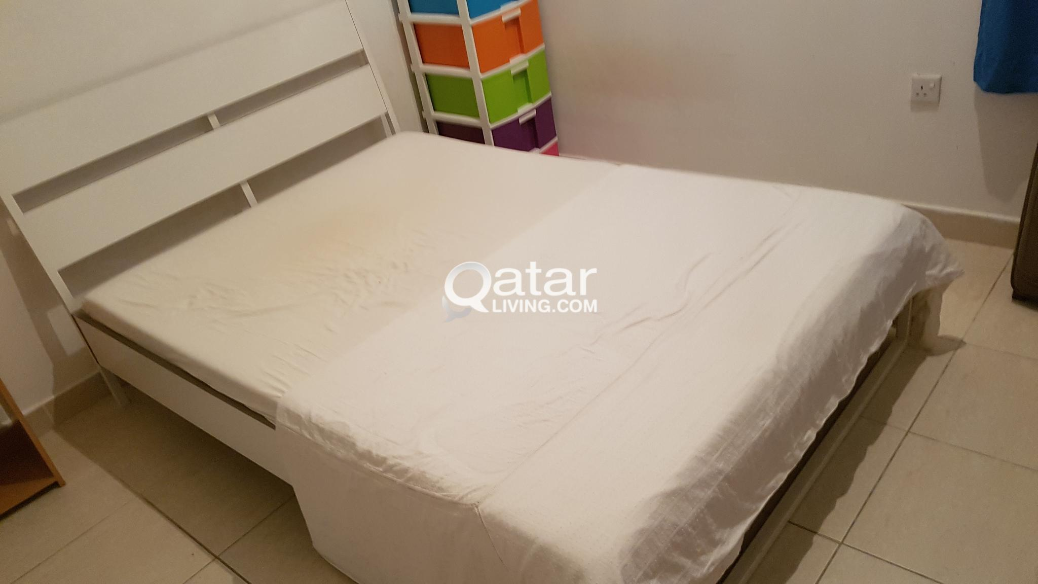 Ikea Boxspring 220 Cm Ikea Bed For Sale 220x140 Cm Including Mattress Qatar Living
