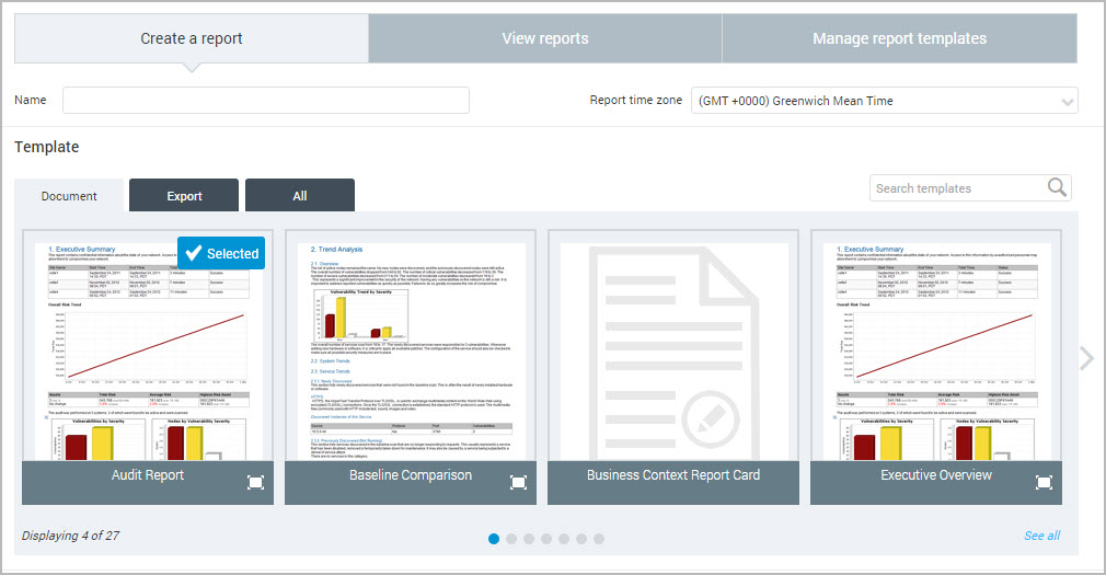 Creating a basic report - how to create a report