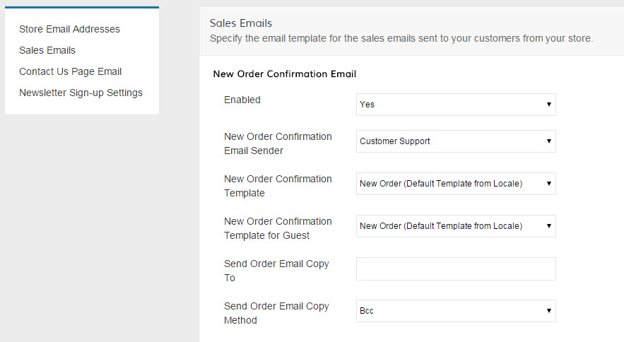 Sales/Customer Account Emails