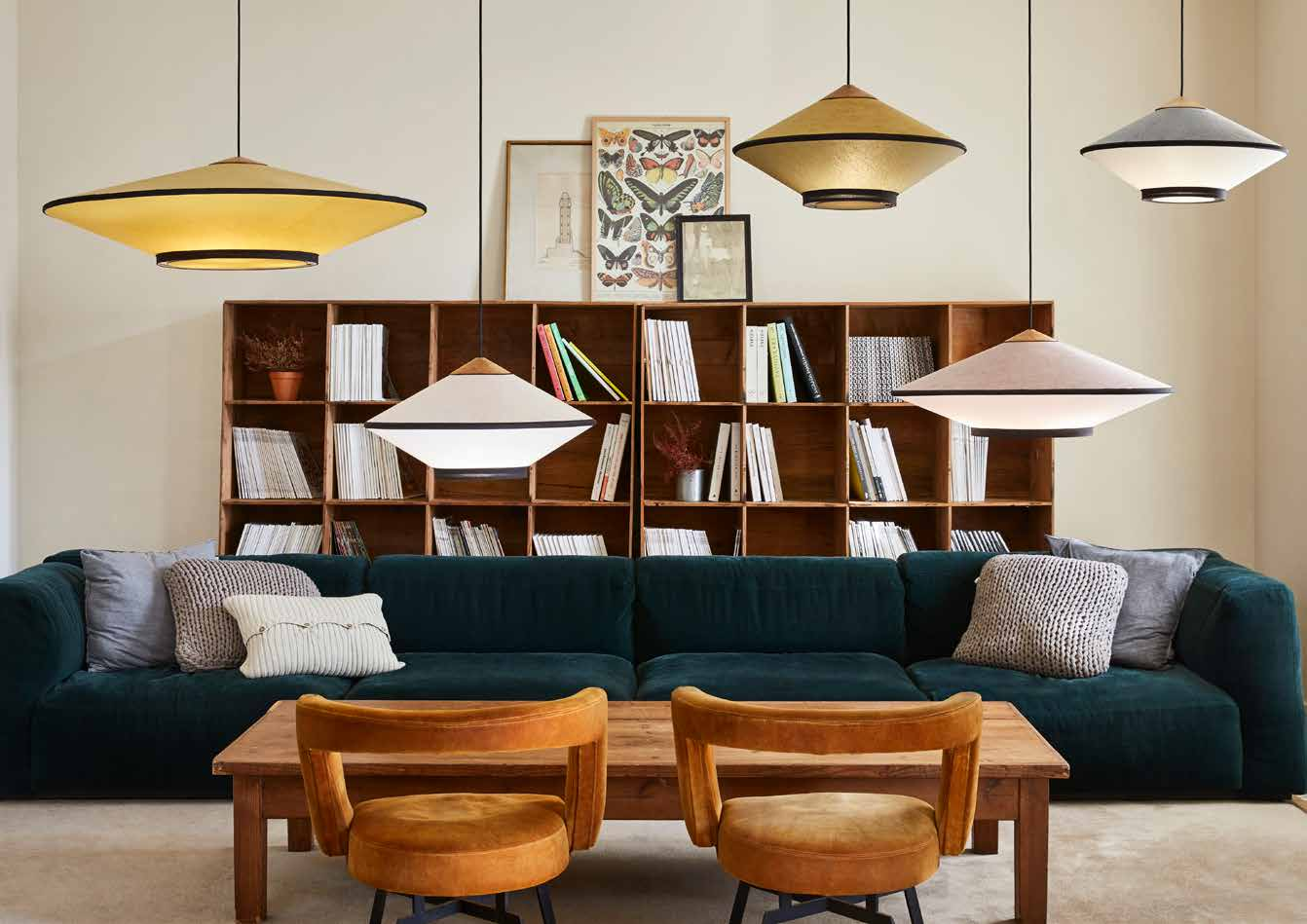 Suspensions Lumiere Forestier - Cymbal Suspension Lamp