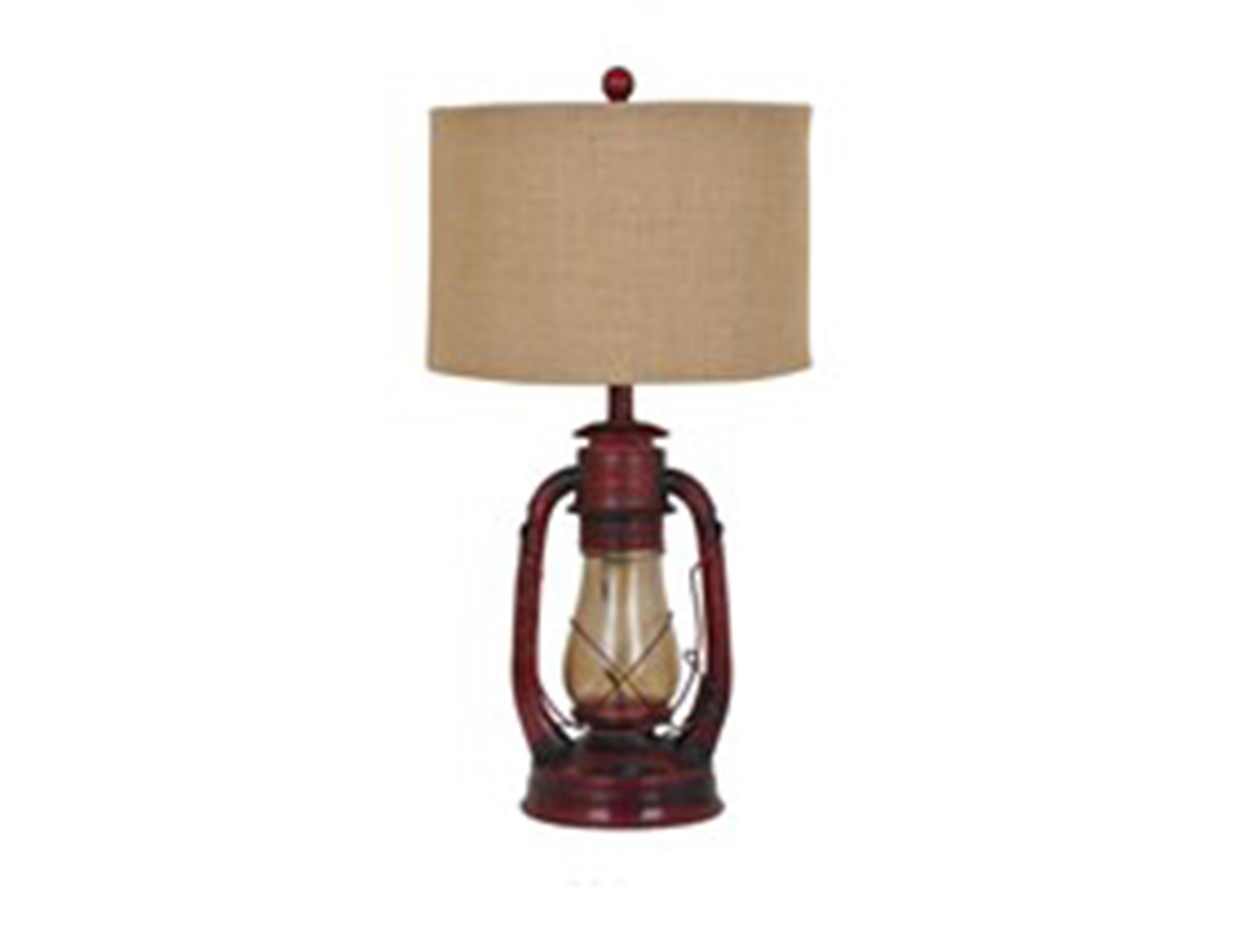 Lamps Online Rustic Red Lantern Table Lamp 28