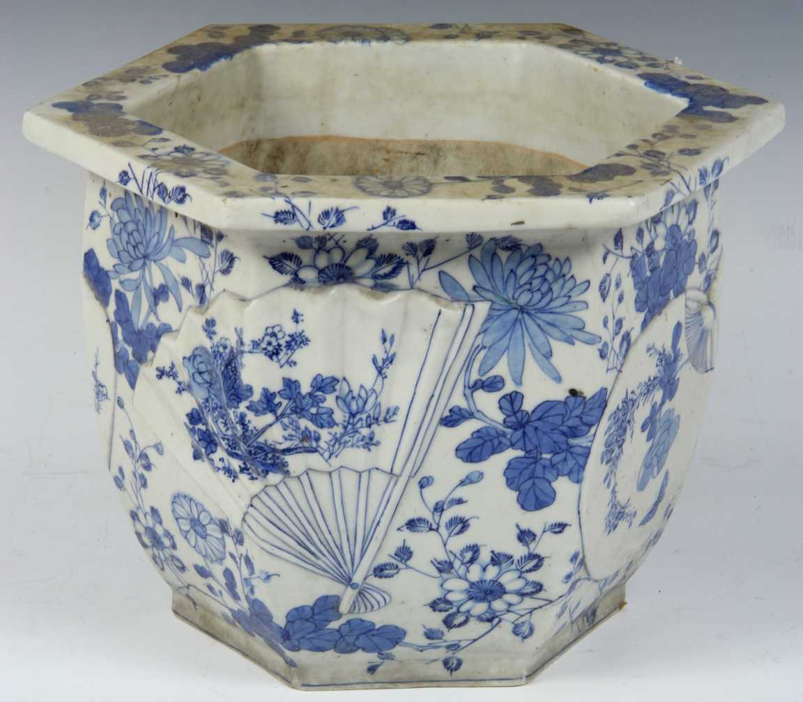 Porcelain Planters Ceramic Chinese Blue And White Porcelain Planter