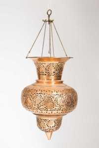 Persian Copper Hanging Oil Lamp