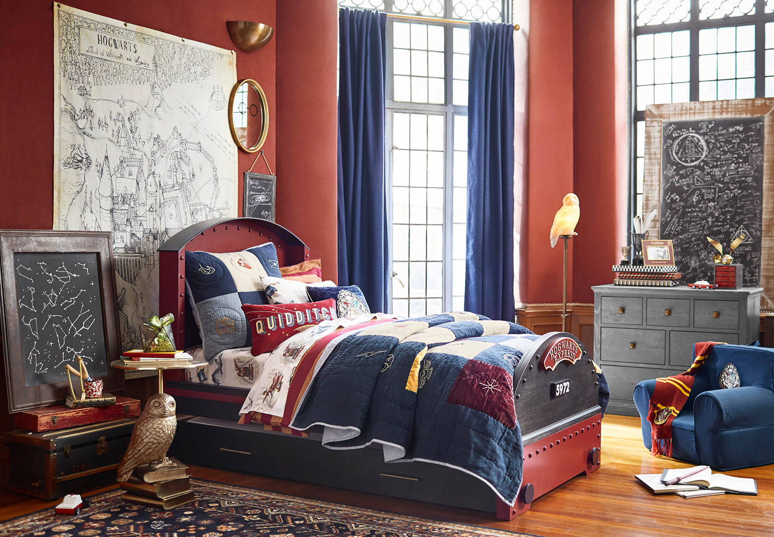 Hogwarts Bedroom Harry Potter Bedroom Dreams With Pottery Barn Kids The