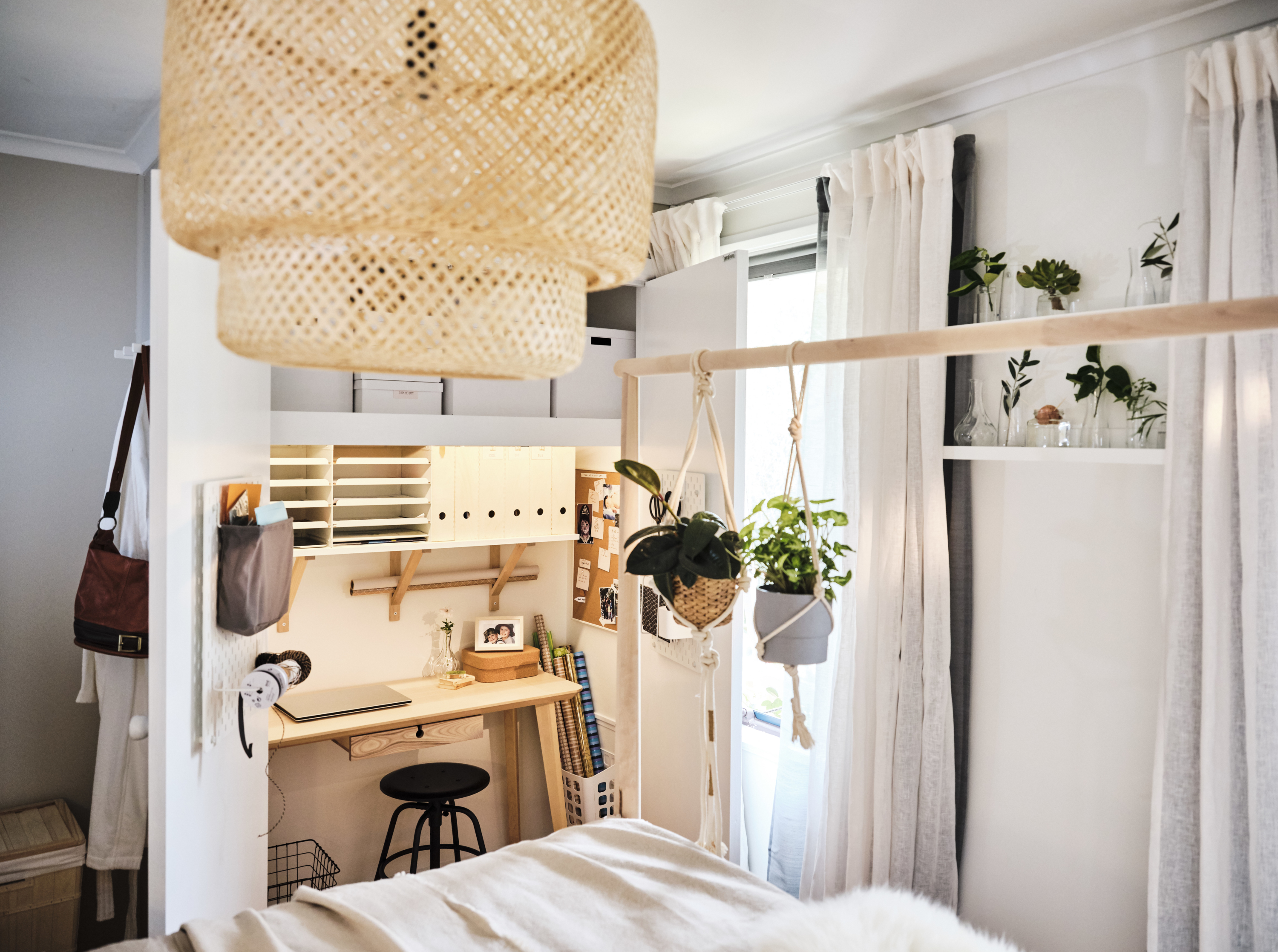 Ikea Bedroom Makeover Turns Wardrobe Into Office Nook The Interiors Addict