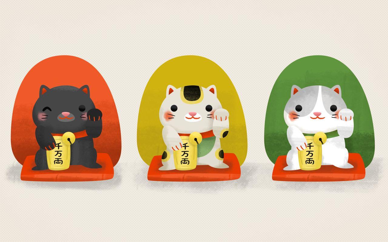 Cute Japanese Cat Wallpaper Maneki Neko Japan S Lucky Cat