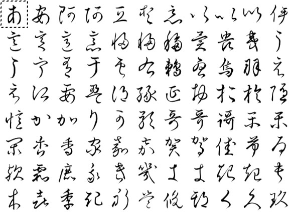 Hentaigana How Japanese Went from Illegible to Legible in 100 Years - hiragana alphabet chart