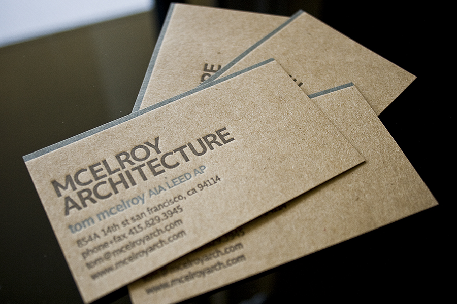 Letterpress Business Cards for an Architect - Fresh Impression