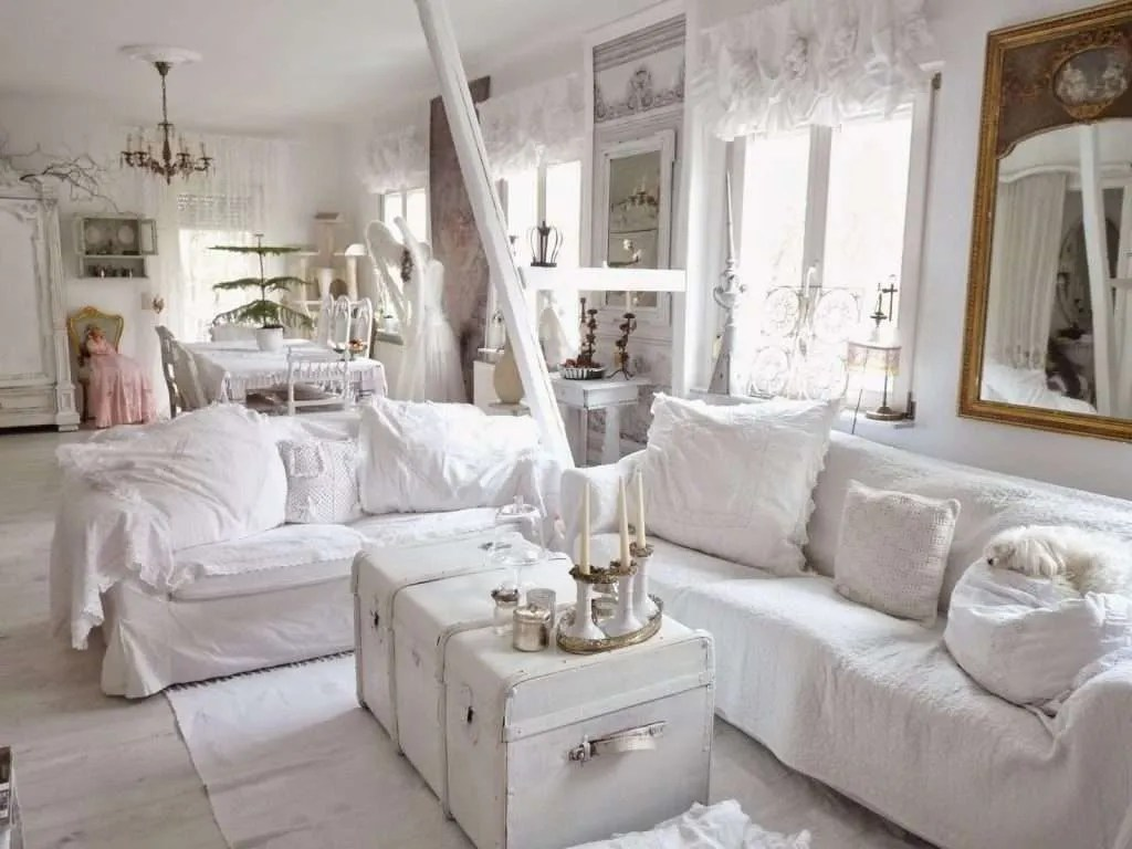 Soggiorno Shabby Economici Mobili Shabby Chic Idee In Bianco Blog Fillyourhomewithlove