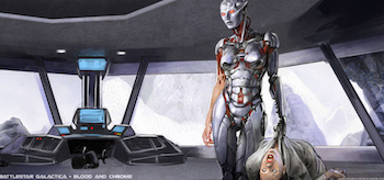 Battlestar Galactica: Blood & Chrome, Promo Art