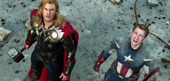 Chris Hemsworth, Chris Evans, The Avengers 2012