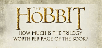 The Hobbit How much is the trilogy worth per page of the book infographic