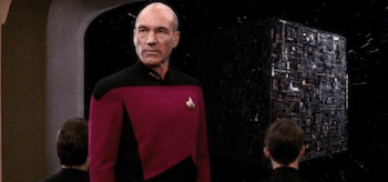 Patrick Stewart Star Trek The Next Generation The Best of Both Worlds