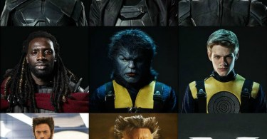 Patrick Stewart, Ian McKellen, Daniel Cudmore, Omar Sy, Lucas Till, Hugh Jackman X-Men Days Of Future Past Character Collage