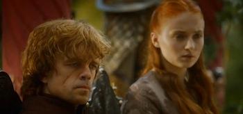 Peter Dinklage Sophie Turner Game of Thrones Season 4