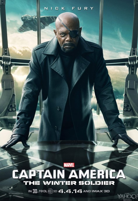 Samuel L Jackson Captain America The Winter Soldier movie poster