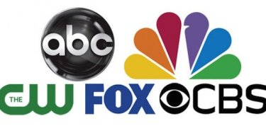 ABC CBS NBC Fox The CW Logos