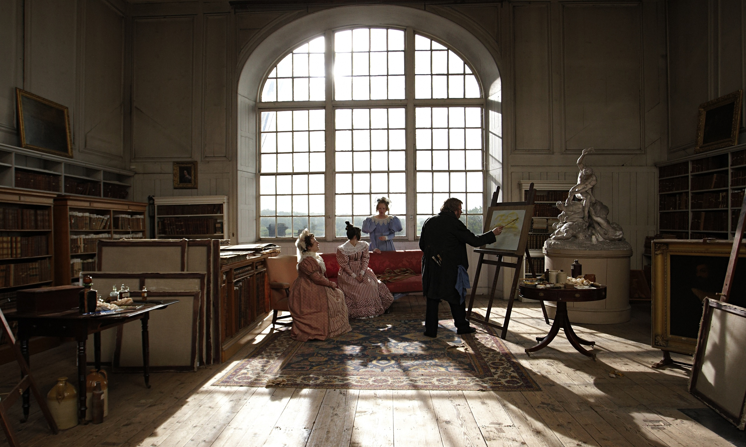 Timothy Spall and cast in Mr Turner.