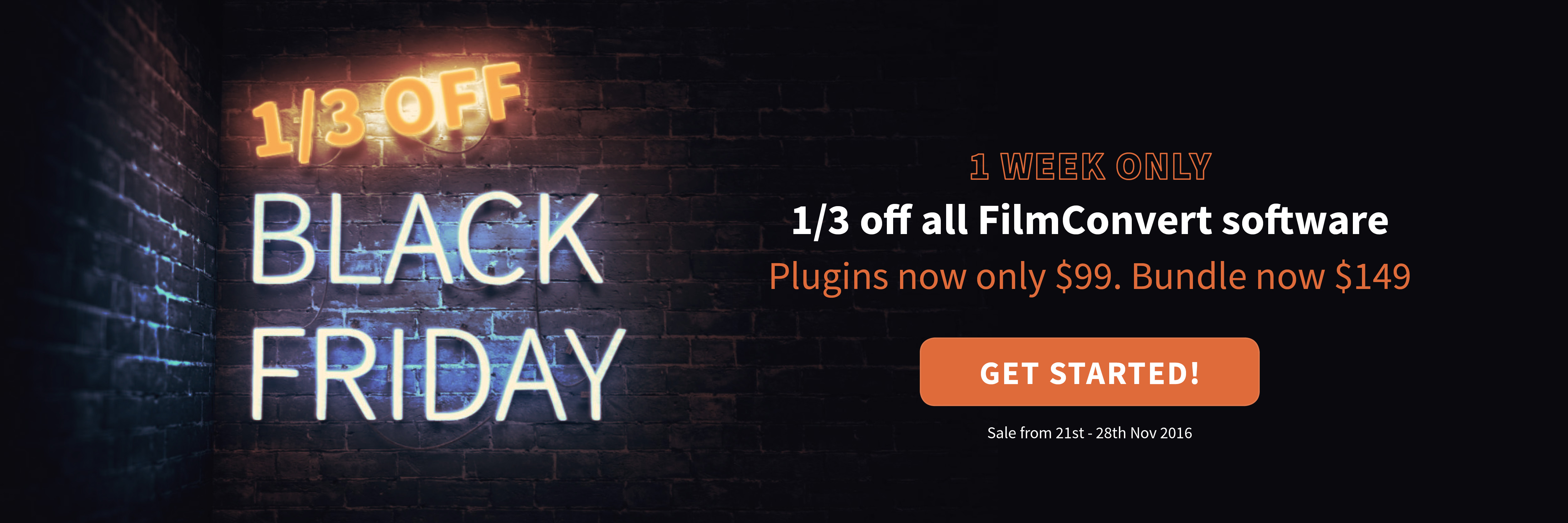 Black Week Sale Black Friday Sale 1 3rd Off Filmconvert