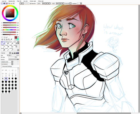 Cartoon FemShep More Handclaps
